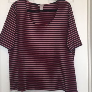 Adorable Striped Tee 2X